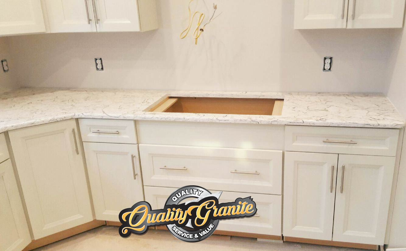granite countertops Cabinets white